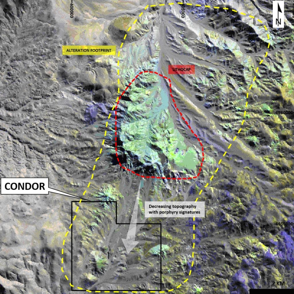 Figure 2. Alteration footprint at Condor Area.