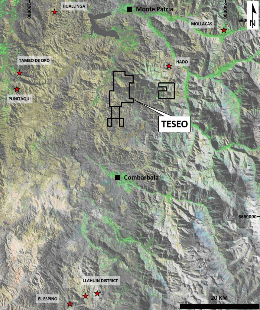 Figure 1. Location of Teseo project.