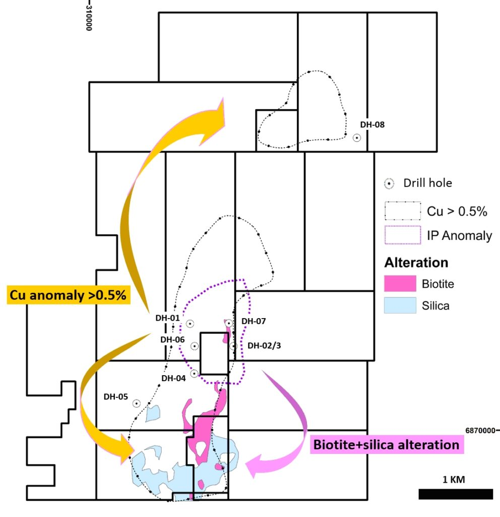 Figure 2. Exploration potential at Triskelion Project.